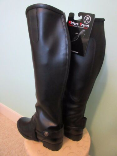 RIDERS TREND FLEXSOFT SYNTHETIC BLACK EQUESTRIAN STRETCH GAITER SIZE LARGE