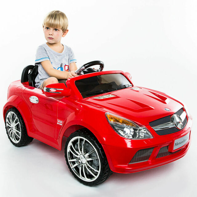 12v Mercedes Benz Sl65 Electric Kid Ride On Car Rc Remote Control Christmas Gift
