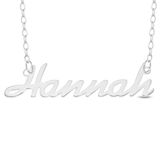 """/""""HANNAH/"""" Laser Cut Argent Sterling 925 Nom Rolo COLLIER-Personnalisé Custom"""