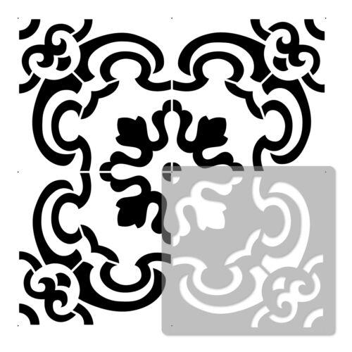 ENNA Wiederverwendbare Kunststoff-Schablone //// Fliese Marokkanische Geometrische