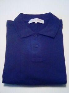 ORLEBAR-BROWN-EUC-Men-039-s-Short-Sleeve-Classic-fit-Polo-Shirt-Navy-blue-sz-Large