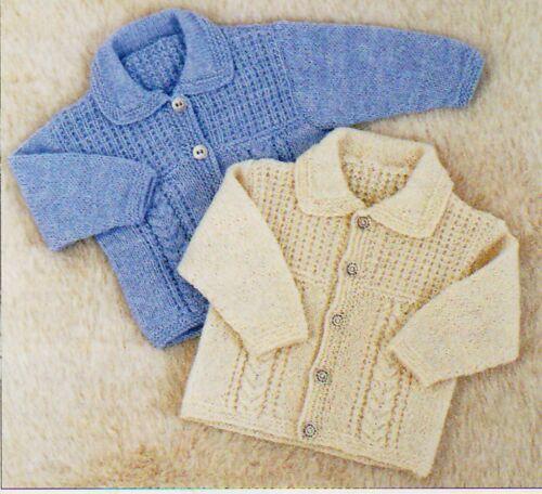 6 sizes 2 styles 0months-6yrs Cardigan PO308 Knitting Pattern