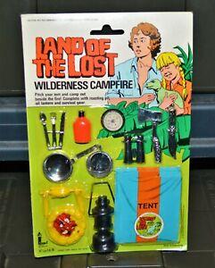 1975 Land of the Lost Wilderness Campfire Rack Toy vintage Larami Kroft Show MOC