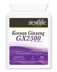 Zestlife-Korean-Panax-Ginseng-GX2500-100-Capsules-boost-for-physical-amp-mental
