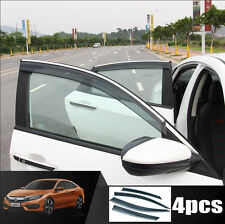 FIT FOR 2016 2017 HONDA CIVIC WINIDOW VISOR RAIN GUARD DEFLECTOR WEATHER SHIELDS