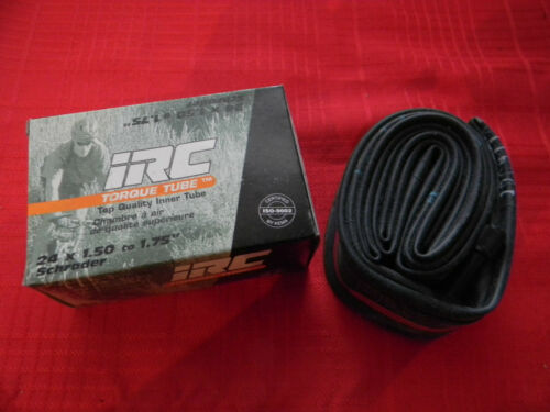24 X 1.50 to 1.75 Schrader IRC Torque Bicycle Tube