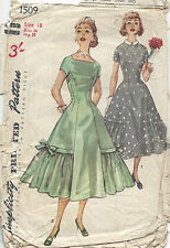 1469 1956 Vintage Sewing Pattern B34 DRESS
