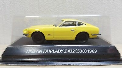 164 Konami 1969 Nissan Fairlady Z432 S30 Yellow Diecast Car