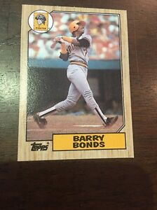 Details About 1987 Topps Barry Bonds Pirates 320 Rookie Miscut Error Baseball Card Rc Sp 11