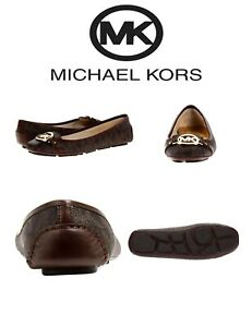 3d88ff7bf Image is loading MICHAEL-Michael-Kors-Fulton-Moccasin-Leather-Shoes-Brown