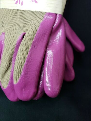 3 PACK Stretch Knit Nitrile coated Gloves Size S//M Garden//Work//Multipurpose