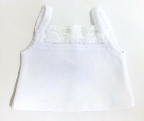 """White Knit Camisole Top Shirt made for 18/"""" American Girl Doll Clothes"""