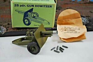 Britains 2026 Canon de campagne de 25 obusiers avec fonctions de travail, menthe, vieux boîtier