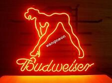 New BUDWEISER BUD LIGHT SEXY LADY GIRL Handcrafted Beer Bar Real Neon Light Sign