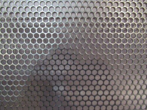"12/"" x 12/"" 5//32/"" ROUND HOLES--20 GAUGE 304 STAINLESS PERFORATED SHEET"