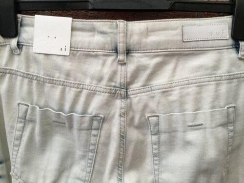 Oui Baxtor Jeans Jeggings SLIM FIT DENIM CHIARO SBIANCATO