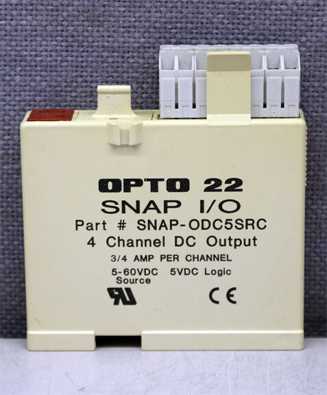 Opto 22 SNAP-ODC5SRC 4 Channel DC Output Module 5-60VDC Source 5VDC Logic USED