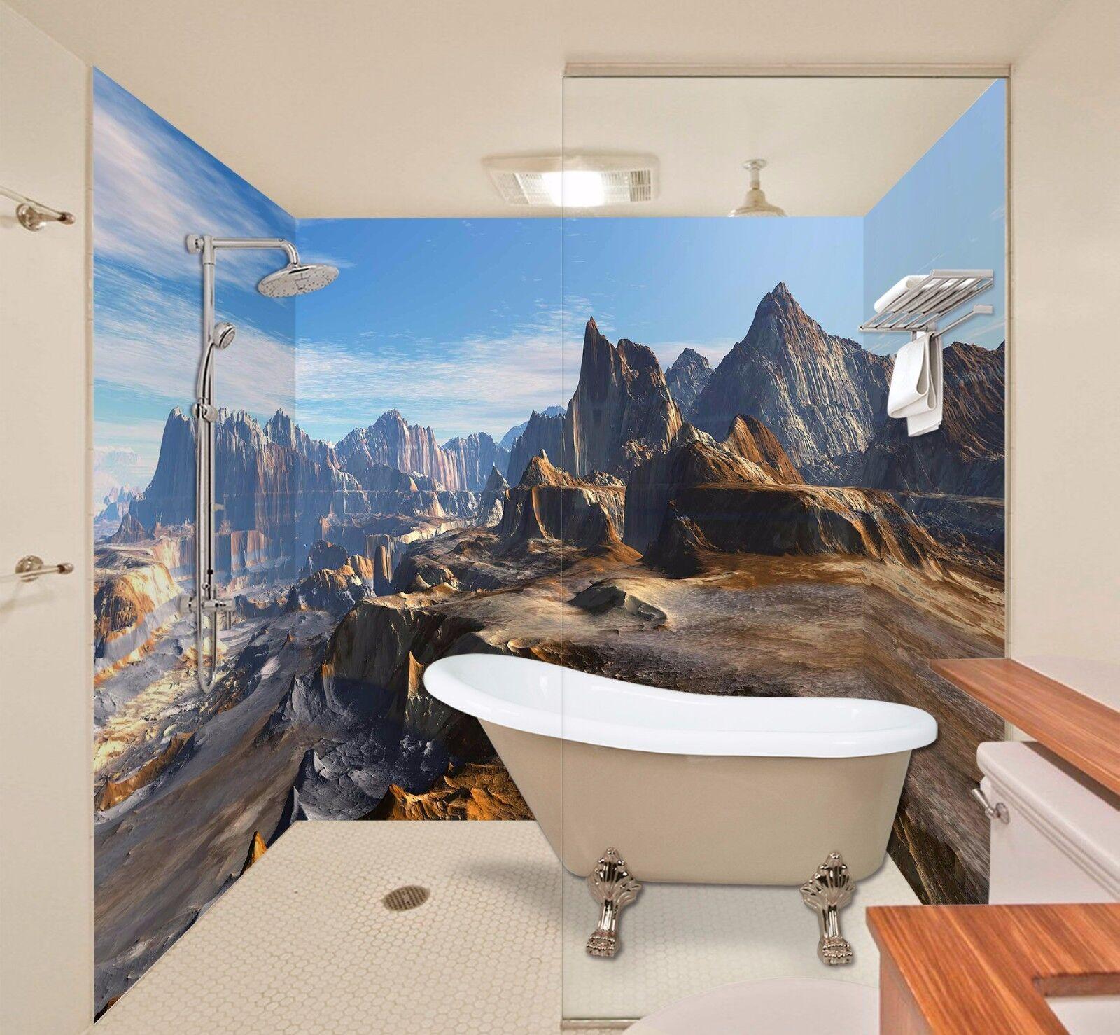 3D Mountain Nature 445 WallPaper Bathroom Print Decal Wall Deco AJ WALLPAPER AU
