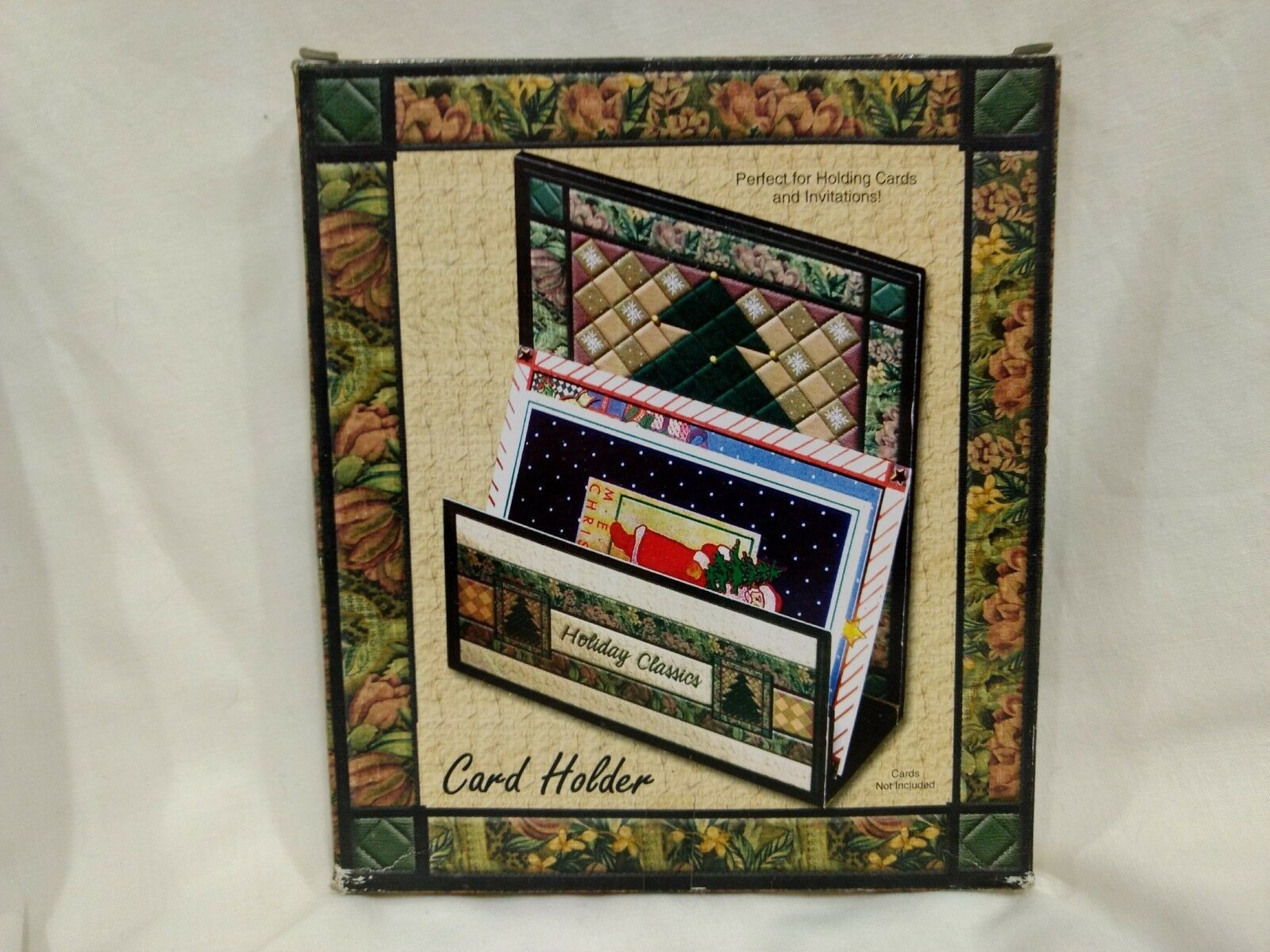Wooden Christmas Card Or Napkin Holder Holiday Classics New Ch38 For Sale Online