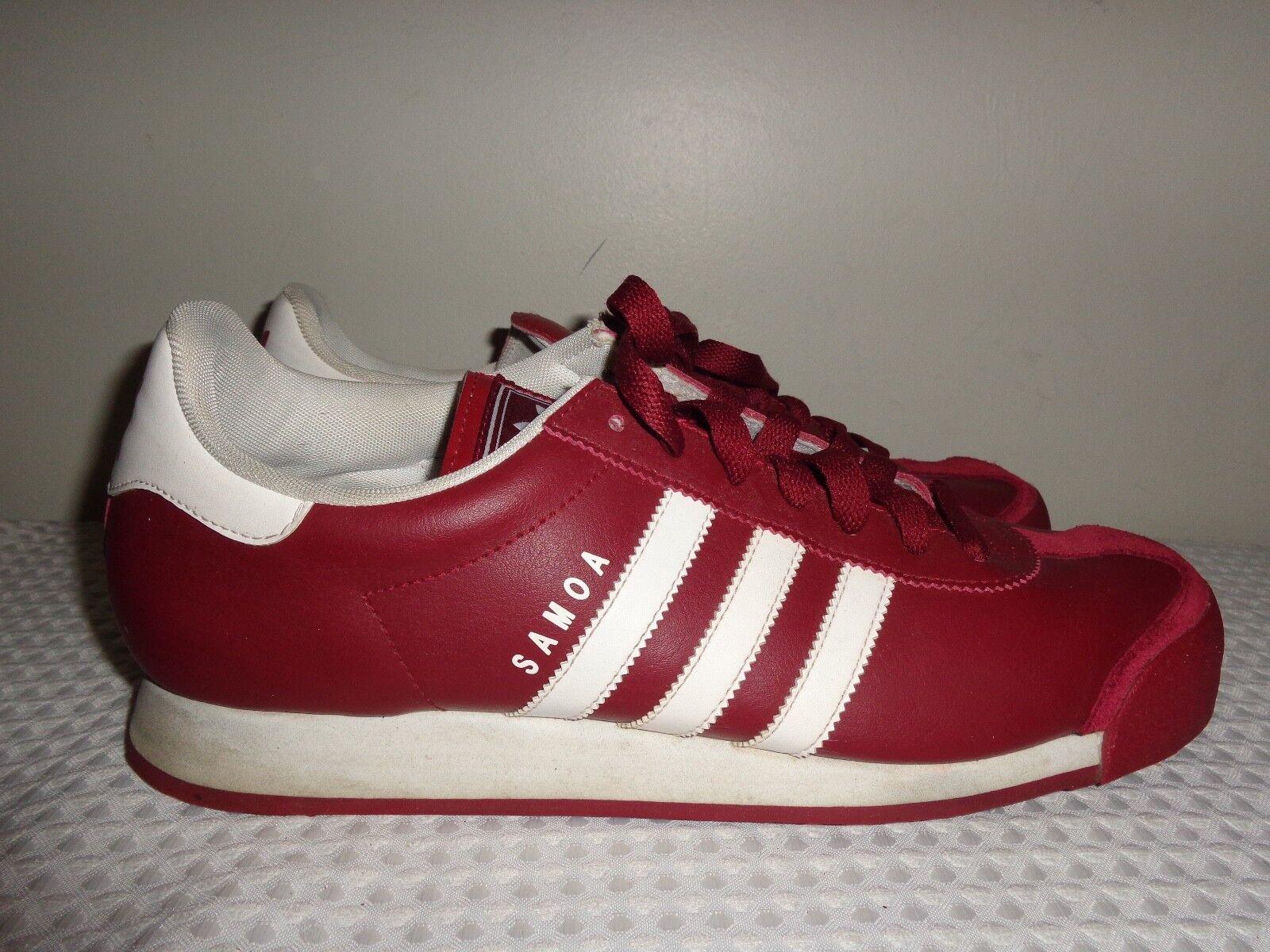 Adidas Samoa Original Maroon & White Sneakers  shoes Size 11