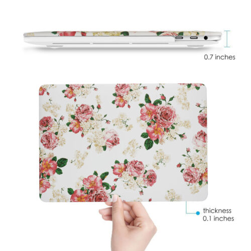 "Soft Touch Matte Coated Hard Floral Rose Case-Women MacBook Pro13/""A1706//A1708"
