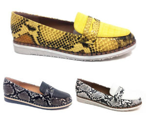 WOMENS-LADIES-FLAT-LOAFERS-CAUSAL-COMFORT-SNAKE-SKIN-WORK-PUMPS-SHOES-SIZE-3-8