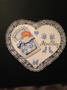 BEAUTIFUL 3D BABY BOY LACE EDGED CARD TOPPER - <span itemprop=availableAtOrFrom>BOWBURN, Durham, United Kingdom</span> - Returns accepted Most purchases from business sellers are protected by the Consumer Contract Regulations 2013 which give you the right to cancel the purchase within 14 days after  - BOWBURN, Durham, United Kingdom