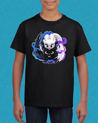 HTTYD How to train your dragon baby cute light night fury toddler youth t shirt