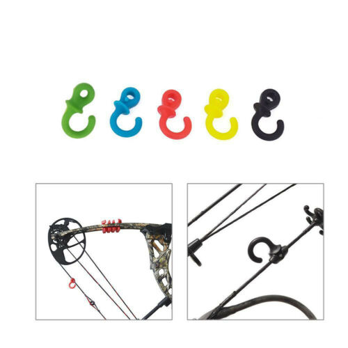 CW/_ 4× Archery Bow String Stabilizer Monkey Tail Silencer Bowstring Damper Set