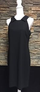 Donna-Morgan-Dress-Black-Open-Back-Formal-Poly-Silk-Size-10