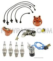 Vw Beetle Karmann Ghia Super Beetle Tune Up Kit With Rotor Cap Spark Plugs Bosch