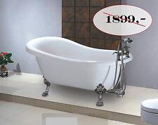 SHM 204 Freistehende Badewanne Retro Design inkl. Armatur & Überlaufgarnitur