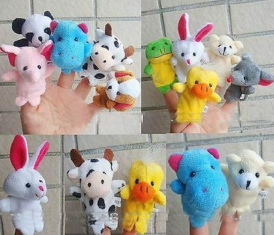 10pc Lovely Baby Educational Toy Mixed Animal Puppet Set Cute Finger Doll