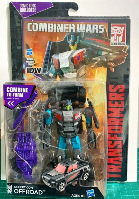 Transformers Combiner Wars - Decepticon Offroad With IDW Comic Book