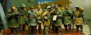 1-35-Resin-Figure-Model-Kit-WW2-German-Team-Soldiers-9-Figures-WWII-Unpainted