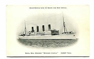 Vintage Postcard UNION CASTLE LINE RMS STEAMER WINDSOR ...