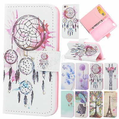 New Patterns Leather Rhinestone Wallet ID Card Case Cover For iPhone 5S 6/6 Plus