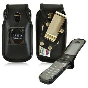 Fitted Heavy Duty Genuine Leather Case for Virgin Mobile Alcatel SpeakEasy