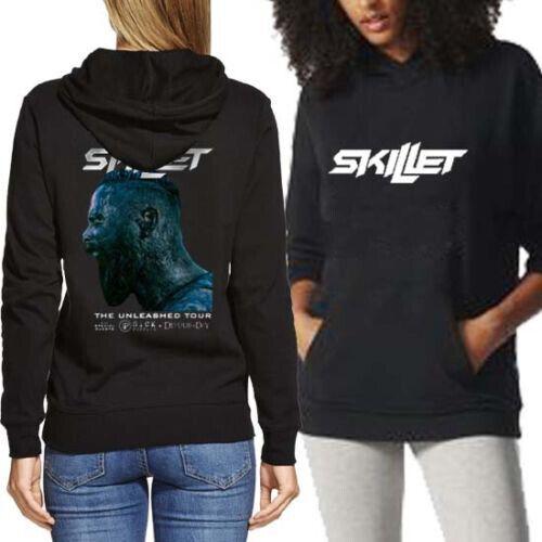 New Long Sleeve Women/'s Hoodie Skillet Band Hoodie 2 Sides