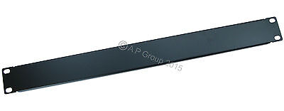 """1U 19"""" Server Backing Plate for Patch Panel Chassis / Network Rack Mounting Box"""