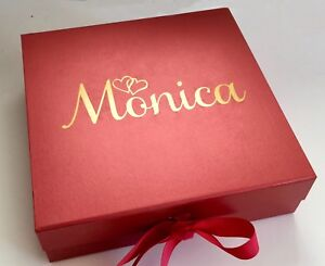 Details About Large Red Gift Box Personalised Valentines Wedding Birthday Engagement Bride