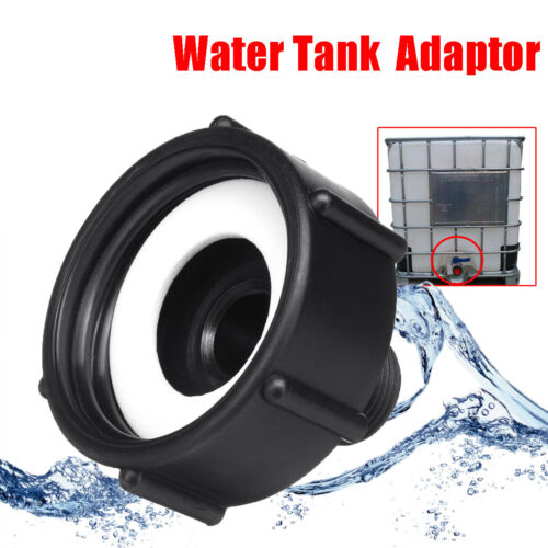 Plastic IBC Tote Tank Valve Drain Adapter Garden Hose Faucet Water Connector new