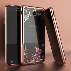 promo code 0aca4 9937c Details about For Samsung Galaxy J7 Sky Pro/J7 Prime Luxury Crystal Bling  TPU Clear Case Cover