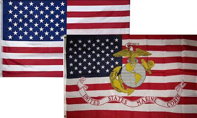 3x5 USMC Marine EGA Marines USA American 3/'x5/' Premium Quality Polyester Flag