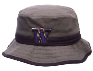 WASHINGTON-HUSKIES-NCAA-THUNDERHEAD-GRAY-BUCKET-Z-CAP-HAT-NWT-SIZE-ADULT-LARGE