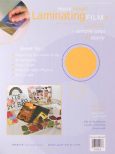 "Grafix Heavy Weight Laminating Film 9"" x 12"" Acid Free 3 Sheets"