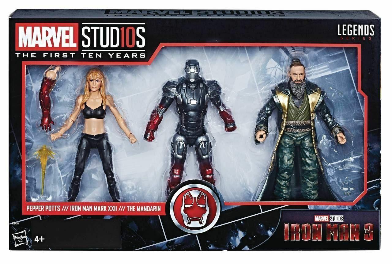 Marvel Leyendas Iron Man 3 pimenteros, hombre de hierro XXII & el mandarín (3 Pack)