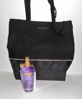 Victoria's Secret Love Spell Tote Handbag & Three (3) Piece Mist Lotion Wash Set