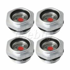 4 Pieces G12 Male Threaded Hex Head Oil Level Sight Glass For Air Compressor