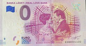 BILLET-0-EURO-BANKA-LASKY-REAL-LOVE-BANK-SLOVAQUIE-2018-NUMERO-4400